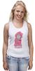 """Майка (Женская) """"Мишка Тедди"""" - pink, teddy bear, мишка тедди"""