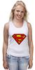 "Майка (Женская) ""Supergirl"" - comics, superman, dc"