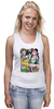 "Майка (Женская) ""Adventure Time "" - adventure time, время приключений, фин, джейк, jake, finn, бубльгум"