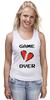 """Майка (Женская) """"Game Over (Игра Окончена)"""" - пиксель арт, 8 бит, 8-bit, расставание, разбитое сердце"""