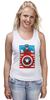 "Майка (Женская) ""Капитан Америка. Винтаж"" - comics, marvel, poster, марвел, vintage, капитан америка, captain america"