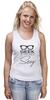 """Майка (Женская) """"Geek Sexy"""" - очки, geek, секси, гик"""