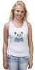 """Майка (Женская) """"Панда"""" - панда, panda"""