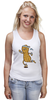 "Майка (Женская) ""Арахис спортсмен"" - бег, фитнес, fitness, run, nuts"