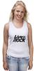 """Майка (Женская) """"LiveInRock"""" - рок, rock"""