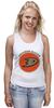 "Майка (Женская) ""Anaheim Ducks"" - спорт, хоккей, nhl, нхл, anaheim ducks"