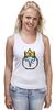 """Майка (Женская) """"Ice King"""" - adventure time, время приключений, пиксельная графика, ice king"""