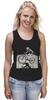"""Майка (Женская) """"девушка на велосипеде"""" - спорт, bmx, велосипед, street, bike, стрит, велоспорт, дерт, фрирайд, freeride"""