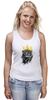 "Майка (Женская) ""Лев в короне"" - king, корона, лев, lion, царь зверей, crown"