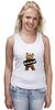 "Майка (Женская) ""Ted PSS"" - арт, bear, медведь, ted, в любви не без медведя"