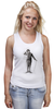 "Майка (Женская) ""Charlie Chaplin"" - комик, charlie chaplin, чарли чаплин, актёр, чарльз спенсер чаплин"