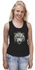 """Майка (Женская) """"Белый тигр"""" - хищник, tiger, тигр, белый тигр, predator, white tiger"""