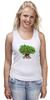 "Майка (Женская) ""iCalistini The Love Tree Дерево Любви"" - счастье, дерево счастья, дерево любви"