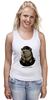 "Майка (Женская) ""made in USSR"" - bear, ссср, медведь, россия, russia, патриотические футболки, арт медведь, russian bear, made in ussr"