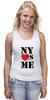 """Майка (Женская) """"NY"""" - i love, ny, nyc"""