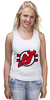 "Майка (Женская) ""New Jersey Devils"" - хоккей, nhl, нхл, нью-джерси девилс, new jersey devils"