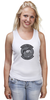 "Майка (Женская) ""Hillclimbears"" - logo, медведь, логотип, вертолёт, hillclimbears"