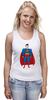 """Майка (Женская) """"Супермен (Superman)"""" - супермен, superman, супергерой, dc"""