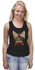 """Майка (Женская) """"Кот в очках"""" - кот, очки, cat"""