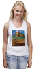 "Майка (Женская) ""ретро плакат"" - ретро, америка, природа, горы, плакат"