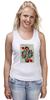 """Майка классическая """"Королева сердец"""" - любовь, карты, рисунок, винтаж, королева"""
