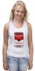"""Майка (Женская) """"Campbell's Soup (Энди Уорхол)"""" - поп арт, энди уорхол, pop art, andy warhol, campbell's soup"""