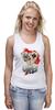 """Майка (Женская) """"Звезда покера"""" - череп, арт, авторские майки, жизнь, карты, скелет, покер, стрит, зеро, очко"""