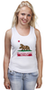 """Майка (Женская) """"Fallout"""" - games, игры, медведь, rpg, геймер, california, калифорния, fallout, action, new california republic"""