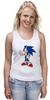 """Майка (Женская) """"Sonic the Hedgehog"""" - games, игры, ёжик, компьютерные игры, pc, соник, sonic, 80's, video games"""