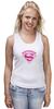 """Майка (Женская) """"Супермама (Supermom)"""" - супер, super, мама, mom, supermom"""