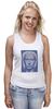 """Майка (Женская) """"The Icon"""" - арт, портрет, russia, мозаика, путин, президент, putin, president, икона, the icon"""