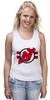 "Майка (Женская) ""Нью-Джерси Девилс"" - хоккей, nhl, нхл, нью-джерси девилс, new jersey devils"