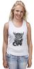 """Майка (Женская) """"Котёнок Saren"""" - котенок, mass effect, сарен артериус"""