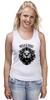"""Майка (Женская) """"WILD & FREE"""" - кредо, wild, лев, lion, девиз"""