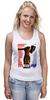 "Майка (Женская) ""молот"" - арт, авторские майки, рука, патриотизм, флаг, молот, рабочий, серп, битва"