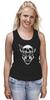"""Майка (Женская) """"Wolf & Skull"""" - skull, череп, волк, wolf"""