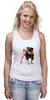 """Майка (Женская) """"Мопс-космос"""" - радуга, dog, pug, космос, собака, цветная, мопс, suit"""