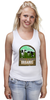 """Майка (Женская) """"Органик"""" - organic, farming, milk farm, органическое сельское хозяйство, cows"""