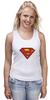 """Майка классическая """"Superman"""" - супермен, superman, supermen, супергерои"""