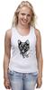 """Майка (Женская) """"пантера"""" - кошка, cat, графика, маска, пантера, дотворк, panther, tm kiseleva"""