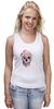 """Майка классическая """"Цветочный Череп"""" - skull, для девушек, цветы, черепа"""