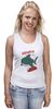 "Майка (Женская) ""Акула (Baywatch)"" - акула, shark, спасатели малибу, baywatch"