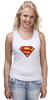 "Майка классическая ""Супермен"" - супермен, superman, логотип"