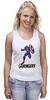 "Майка (Женская) ""Капитан Америка"" - мстители, avengers, капитан америка, captain america"