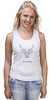 """Майка классическая """"Dear Deer"""" - рисунок, дизайн, олень, минимализм, рога"""