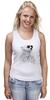"""Майка (Женская) """"Белый Медведь"""" - bear, медведь, белый медведь"""