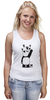 "Майка (Женская) ""Панда вандал"" - животные, панда, panda, wwf"