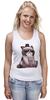 """Майка классическая """"Котик НЕТ"""" - кошка, grumpy cat, сердитый котик, соус тардар"""