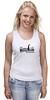 "Майка классическая ""Nessy Black"" - плавание, марафон, открытая вода, триатлон, nessy"
