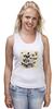 """Майка классическая """"Череп"""" - skull, череп, бабочки, цветы, черепа, солнце, кости, death, butterflies"""